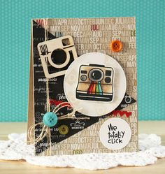 Card by PS DT Laurie Schmidlin using the PS We Totally Click stamp set