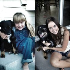 12 Adorable Then and Now Photos of Pets and Their Owners #adorable #photos #pets
