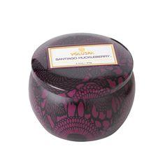 Decorative Tin Candle, Santiago Huckelberry, 25h, Voluspa #voluspa #design #royaldesign #candle #scentedcandle