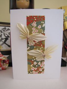 Origami Fan Butterfly Birthday Card by ChienoWa on Etsy