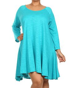 Another great find on #zulily! Aqua Swing Tunic - Plus #zulilyfinds