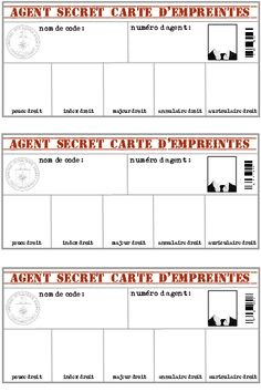 Prepare a birthday secret agents theme: games and animation - Lolo& little deco Escape Room, Secret Agent Party, Secret Party, Fingerprint Cards, Spy Party, Mission Impossible, Reading Groups, Dramatic Play, Activity Days