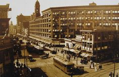 I love this photo--If only Rochester saw so much hustle and bustle today! --Sibley's Department Store.