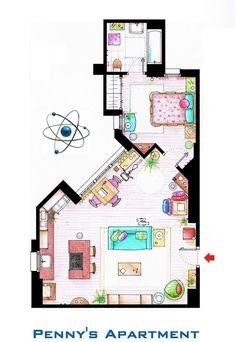 Planos de las casas de algunas de las Series mas populares - Taringa!