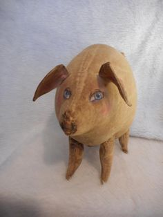 PATTERN Primitive doll Pig  11 inches by 8 inches tall.