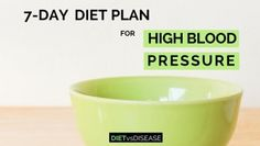 7-day diet plan for high blood pressure