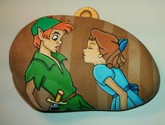 This listing is for a 100% hand painted rock of Peter Pan and Wendy Darling from Disneys Peter Pan. All of my rocks are painted using high quality acrylic paints onto a white carribbean beach stone. They are then coated in a clear glossy enamel. I take my time with every creation to ensure quality and detail. Each rock can take up to 3- 12 hrs. depending on the complexity or size. Sometimes the smallest of rocks take the longest.