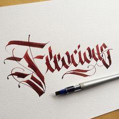 Ferocious. __________________________________ #makedaily #calligraphy…