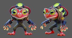 Cartoony characters based on the concepts from Jose Leote. Game Character Design, Character Design Animation, Character Design References, 3d Character, Character Concept, Concept Art, Cute Creatures, Fantasy Creatures, 3d Max