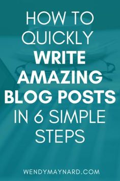 I have a surefire system for quickly writing blog posts that I want to share with you. Follow these steps and become a content-creation machine!
