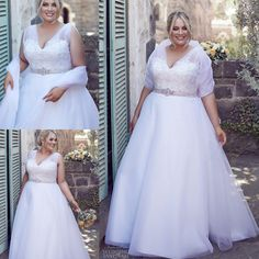 2016 Romantic Wedding Dresses for Full Figured Elegant Women Country Rustic Brides Sale Cheap Sheer Thick Straps Appliqued Ball Bridal Gowns