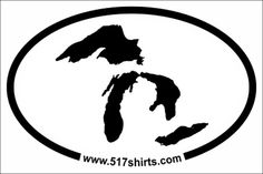 Great Lakes sticker by 517Shirts on Etsy, $3.00