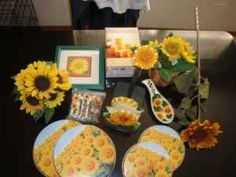 Sun Flowers Kitchen Decorations | SUNFLOWERS KITCHEN CURTAINS