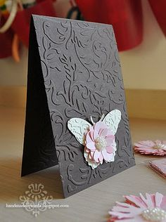 Such a pretty embossed card with a gorgeous butterfly
