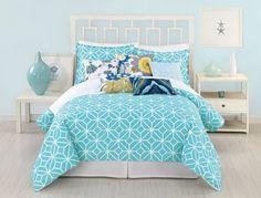 AmazonSmile - Trina Turk 3-Piece Trellis Comforter Set, Queen, Turquoise - Trina Turk Trellis Turquoise Bedding Collection