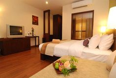 The #CrownLanta Gazebo Deluxe Room. #Thailand #Krabi #KohLanta #KoLanta #CrownLanta #Resort #Spa  Gazebo Deluxe Rooms: 21 generously sized (50 square meters) rooms are located on 2nd floor overlooking to 25 meters lap pool and garden view.  Relax on the day bed in the privacy of your lookout balcony.