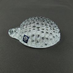 Art Glass  Hedgehog Paperweight by Bergoala by MjsFunkandJunk, $34.99