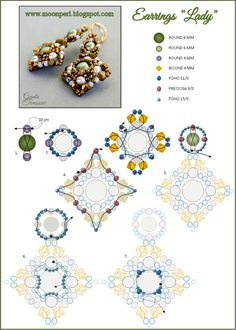 FREE Pattern for LADY Earrings from MoonPerl. Page 2 of 2