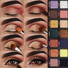 """Fun fact: I was half asleep when I was """"labelling"""" the pictorial and my phone dropped from my hand 4 times. (Now I think I was just being… Makeup Goals, Love Makeup, Makeup Inspo, Makeup Inspiration, Makeup Tips, Beauty Makeup, Hair Makeup, Eyebrow Makeup, Makeup Products"""