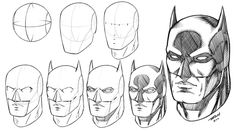 Batman Mask How to Draw Step by Step Tutorial by robertmarzullo on DeviantArt