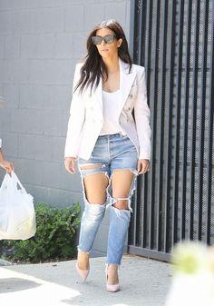 Los #vaqueros rotos están de #moda : #KimKardashian