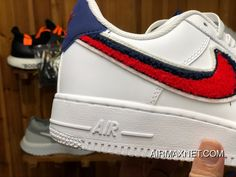 Buy Nike Air Force 1 One Air Max Zoom Men Pure White Red Hook Red White  Blue Sneakers Size New Release from Reliable Nike Air Force 1 One Air Max  Zoom Men ... 1357ff328