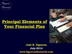 Principal Elements of Your #Financial Plan