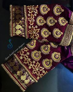 All Ethnic Customization with Hand Embroidery & beautiful Zardosi Art by Expert & Experienced Artist That reflect in Blouse , Lehenga & Sarees Designer creativity that will sunshine You & your Party Worldwide Delivery. Wedding Saree Blouse Designs, Silk Saree Blouse Designs, Hand Work Embroidery, Hand Embroidery Designs, Maggam Work Designs, Diana, Sleeve Designs, Work Blouse, Maggam Works