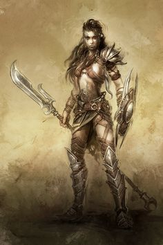 warrior girl by *michalivan