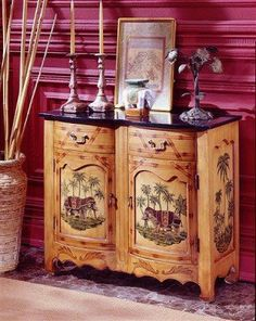 Fairfax Home Furnishings Black Marble Accent Cabinet by Fairfax Home Furnishings. $709.00. Exotic scenes of elephants grace this beautiful black marbled top accent cabinet, the perfect way to liven up your home.