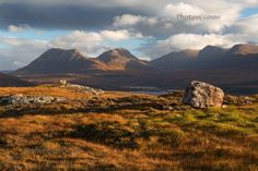 Aird of Coigach. Inverpolly Hills. Changing Light. North West Geopark. Scotland.