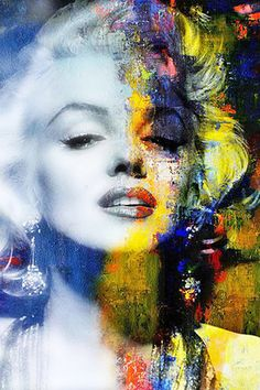 Colorful Marilyn Monroe♥ #marilynmonroe #art #marilynart #portrait