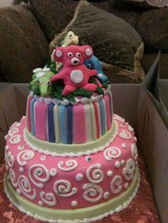 Trifles' Pastel Animal Baby Shower Cake