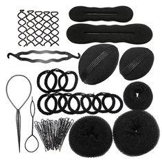 Pleasing 2Pcs Beauty Hair Hairstyle Sponge Foam Bun Holder Maker Clip Short Hairstyles For Black Women Fulllsitofus