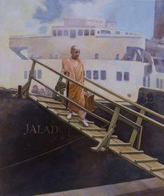Srila Prabhupada's Arrival in America September 17 Hare Krishna, Krishna Names, Srila Prabhupada, Acts Of Love, Bhakti Yoga, September 17, God Pictures, Love Drawings, In Boston