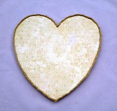 Beige and green heart plaque by intralove on Etsy