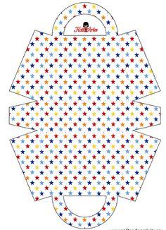 Estrellas: Bolsos para Imprimir Gratis. Printable Star, Printable Paper, Free Printables, Paper Purse, Paper Gift Bags, Arts And Crafts Box, Party In A Box, Paper Cards, Craft Items