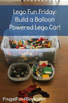 Lego Fun Friday: Balloon Powered Car Building Challenge
