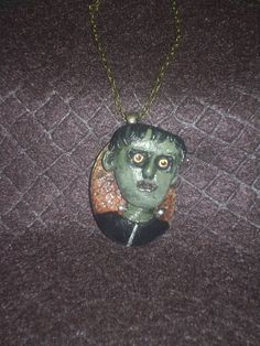 Frankenstein's monster polymer clay pendant - pinned by pin4etsy.com