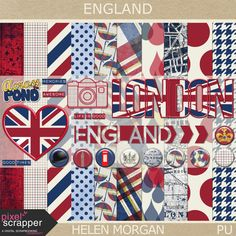 FREE Pixel Scrapper June 2015 Blog Train – England by Helen Morgan