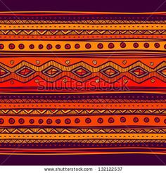 Abstract hand-drawn ethno pattern, tribal background. Pattern can be used for wallpaper, web page background, others. Bright vector tribal texture. - stock vector