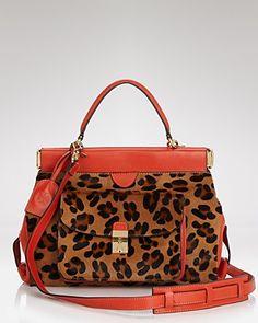 Tory Burch Satchel - Priscilla Small   Bloomingdale's Small Handbags, Best Handbags, Purses And Handbags, Leopard Bag, Cheap Designer Handbags, Designer Purses, Fashion Prints, Tory Burch, Clutches