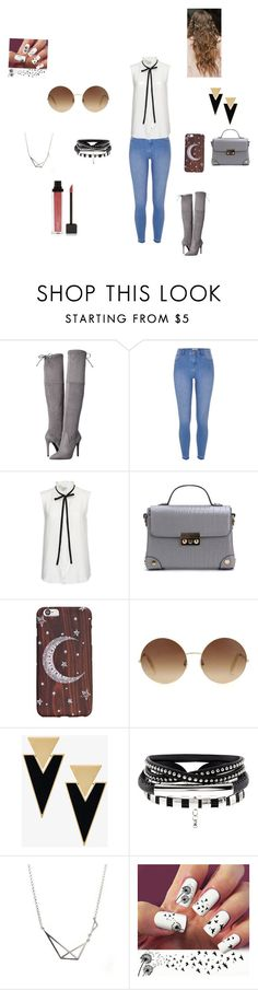 """Untitled #28"" by slowmotionashelyy ❤ liked on Polyvore featuring GUESS, River Island, Frame, Victoria Beckham, Yves Saint Laurent and Jouer"