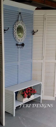 Make A Hall Tree From Old Shutter Doors