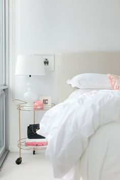 simple white guest bedroom    Rue-Stoffer Photography _Danielle Moss60 by coco+kelley, via Flickr