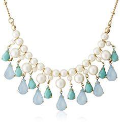 [ア・リリーオブ・ザ・バリー] a lily of the valley クリスタルドロップネックレスブルー / Crystal Drop-shaped Necklace on ShopStyle