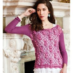 LACE AND CABLE PULLOVER