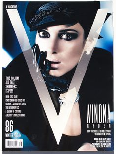 Winona Ryder is shot by Mario Testino, styled by Carlyne Cerf de Dudzeele for the Winter 2013 cover of V Magazine ahead of her first action role in action-thriller Homefront.