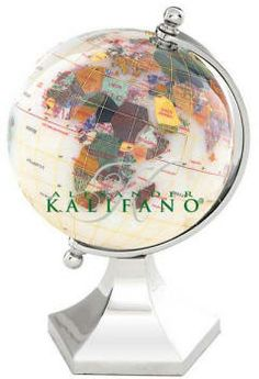 World Gemstone Globes - Opal (Free Shipping) Opal gemstone shows the oceanic boundaries, while the continents and countries are represented by other  vibrant gemstones.  Gemstone mini globe is handmade with a variety of semi precious stones that are individually hand carved to represent each country.