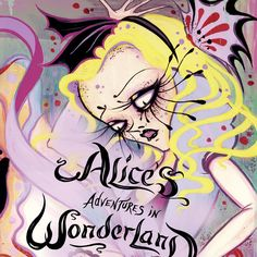 """New York Times Bestseller Camille Rose Garcia's """"Alice's Adventures in Wonderland"""". Over 40 full color illustrations with original text by Lewis Carroll.  Hardcover edition, 160 pages, 6"""" x 8 1/2"""". Signed by the artist."""